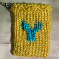 Knitted Y, monogrammed Y, gift card holder