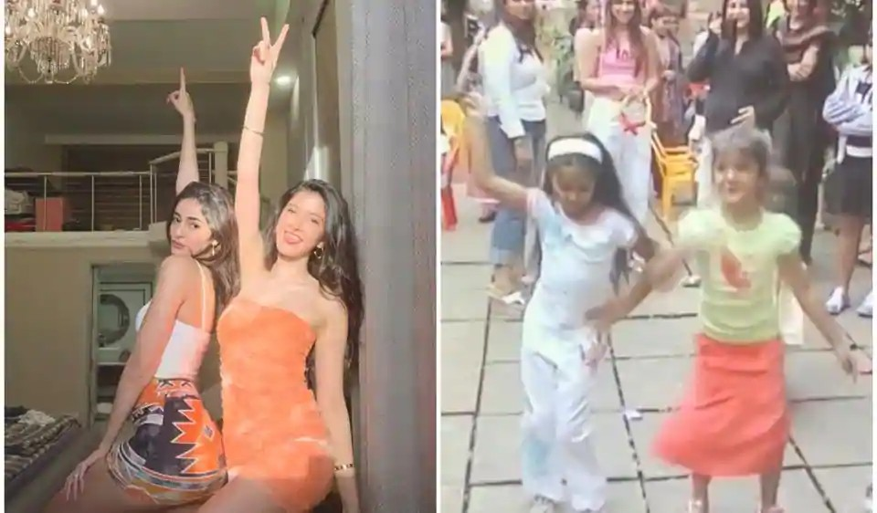 Actors Gossips: BFFs Ananya Panday and Shanaya Kapoor dance on the streets to Its The Time To Disco Dance, watch cute throwback video