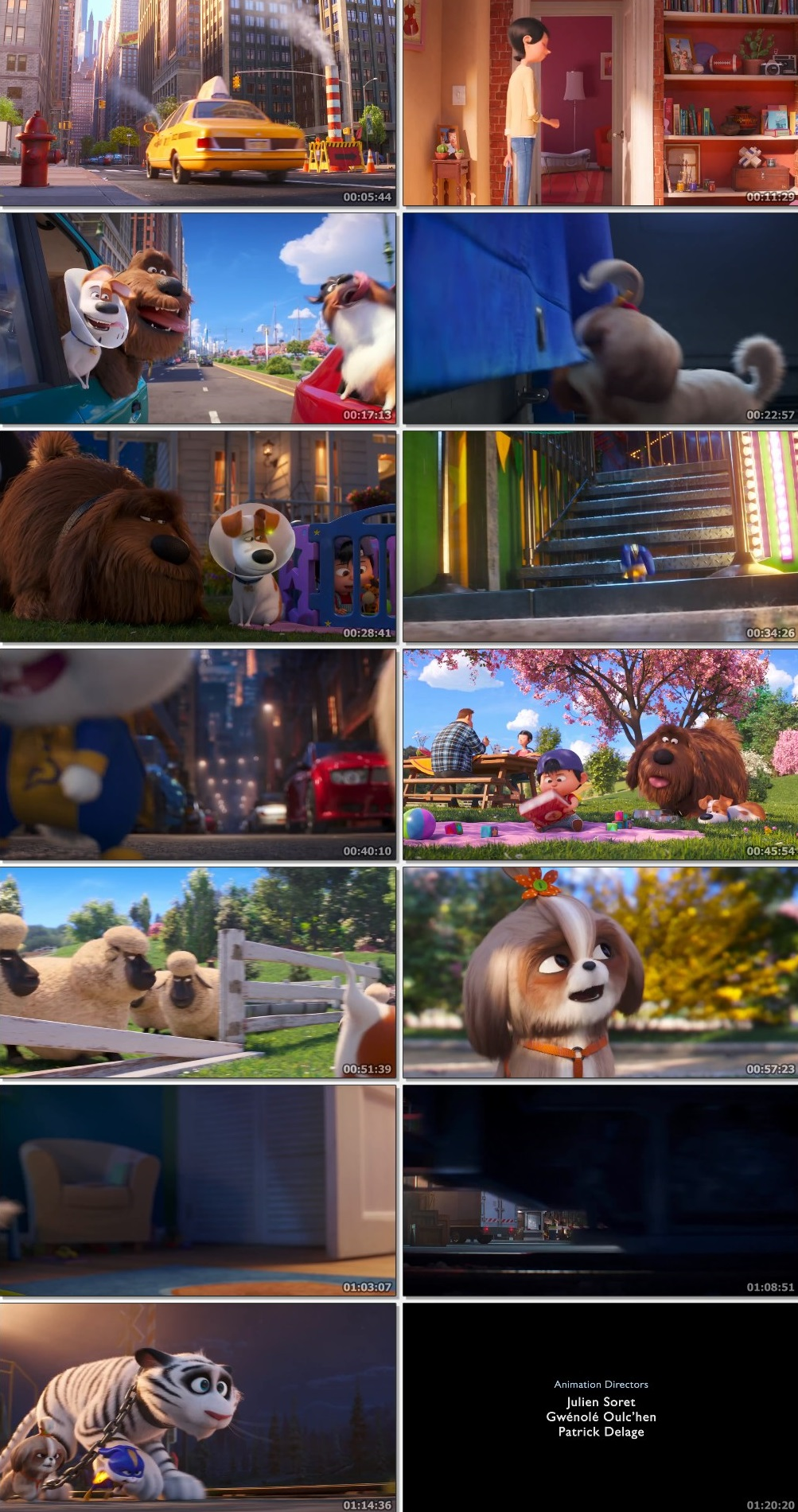 Screen Shot Of The Secret Life of Pets 2 2019 300MB Full Movie Hindi Dubbed Free Download 480P BRRip Small Size PC Movie