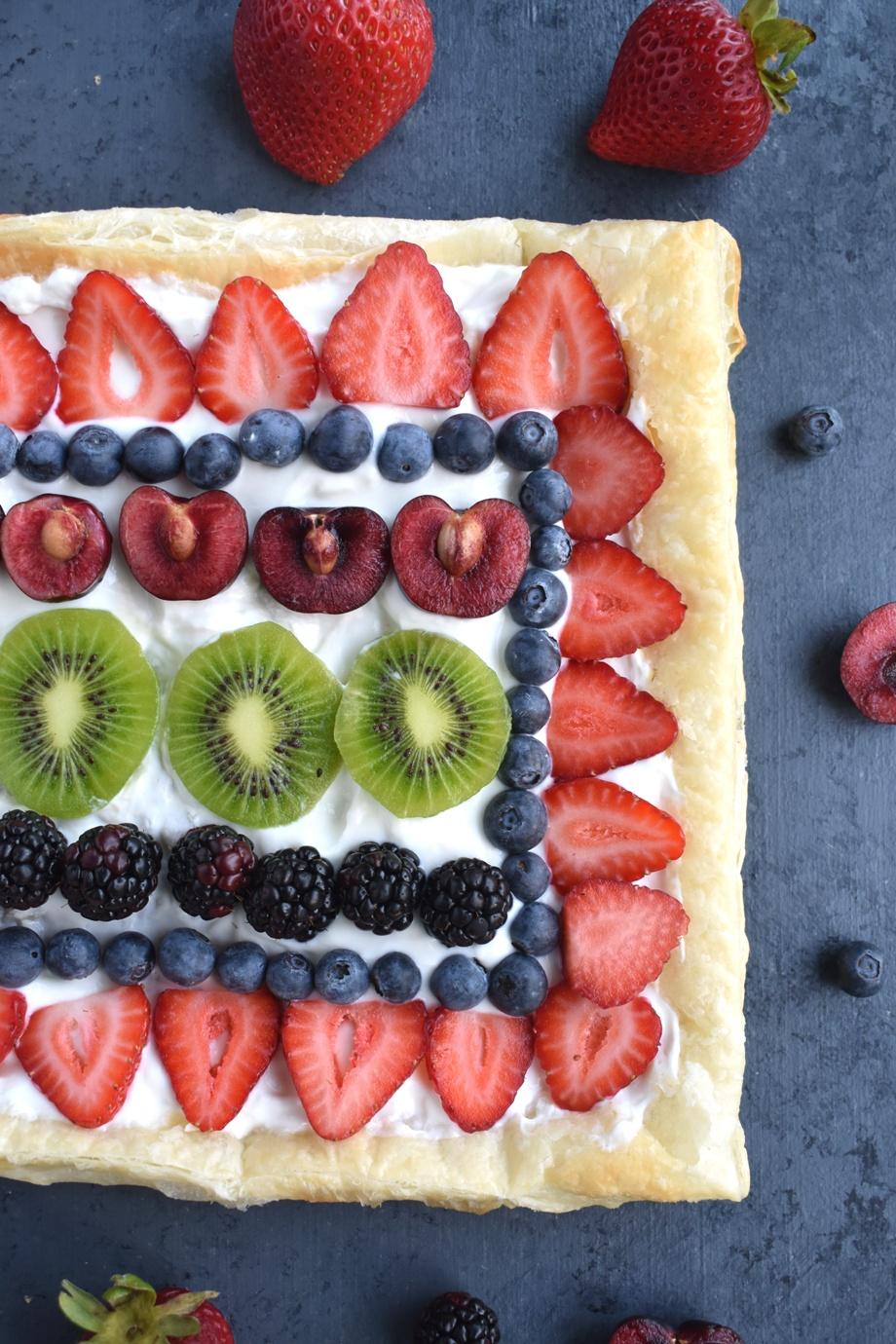 greek yogurt fruit pizza photo