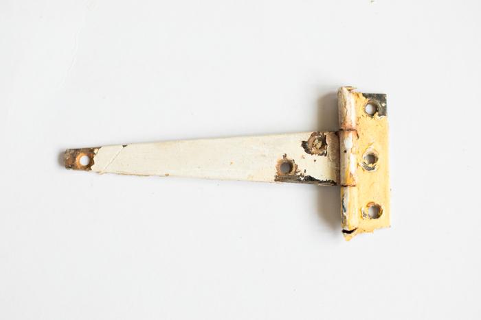 old paint door hinge