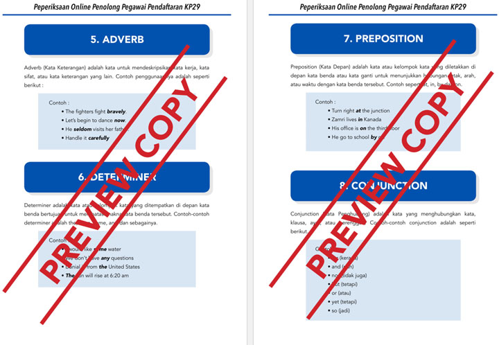 Seksyen Kefahaman Bahasa Inggeris Contoh Soalan Penolong Pegawai Pendaftaran KP29