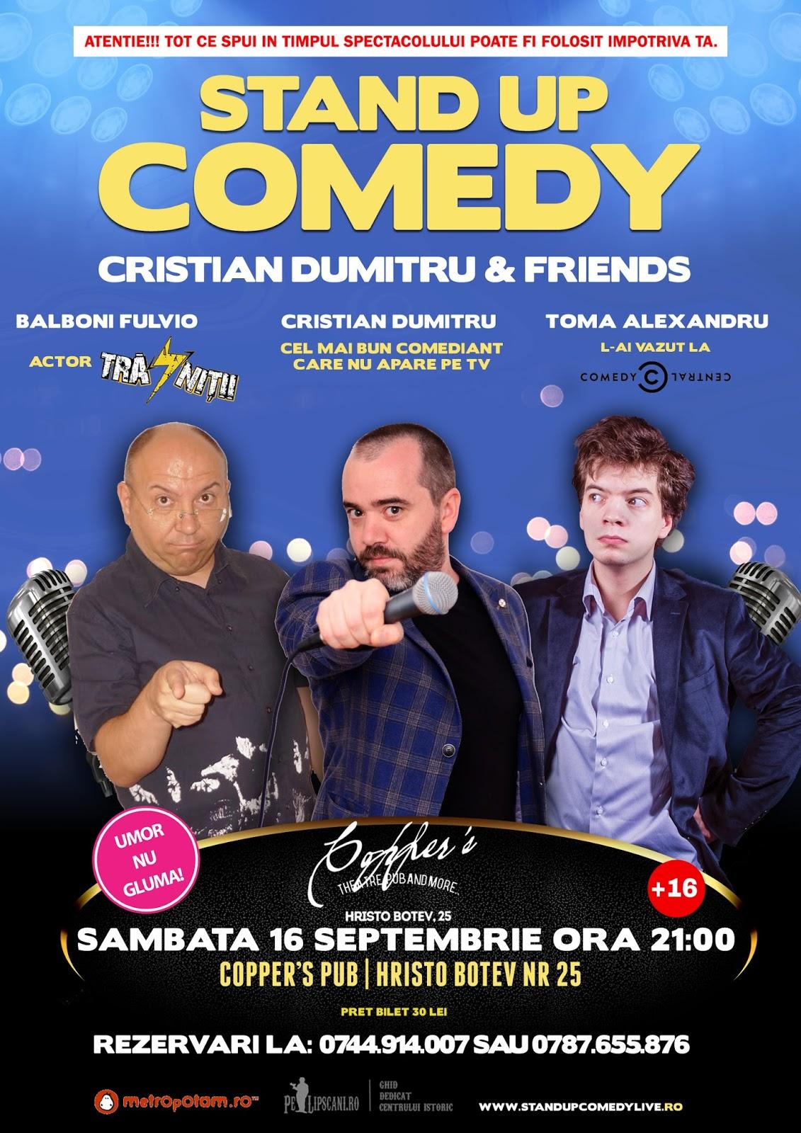 Stand-Up Comedy Bucuresti Sambata 16 Septembrie