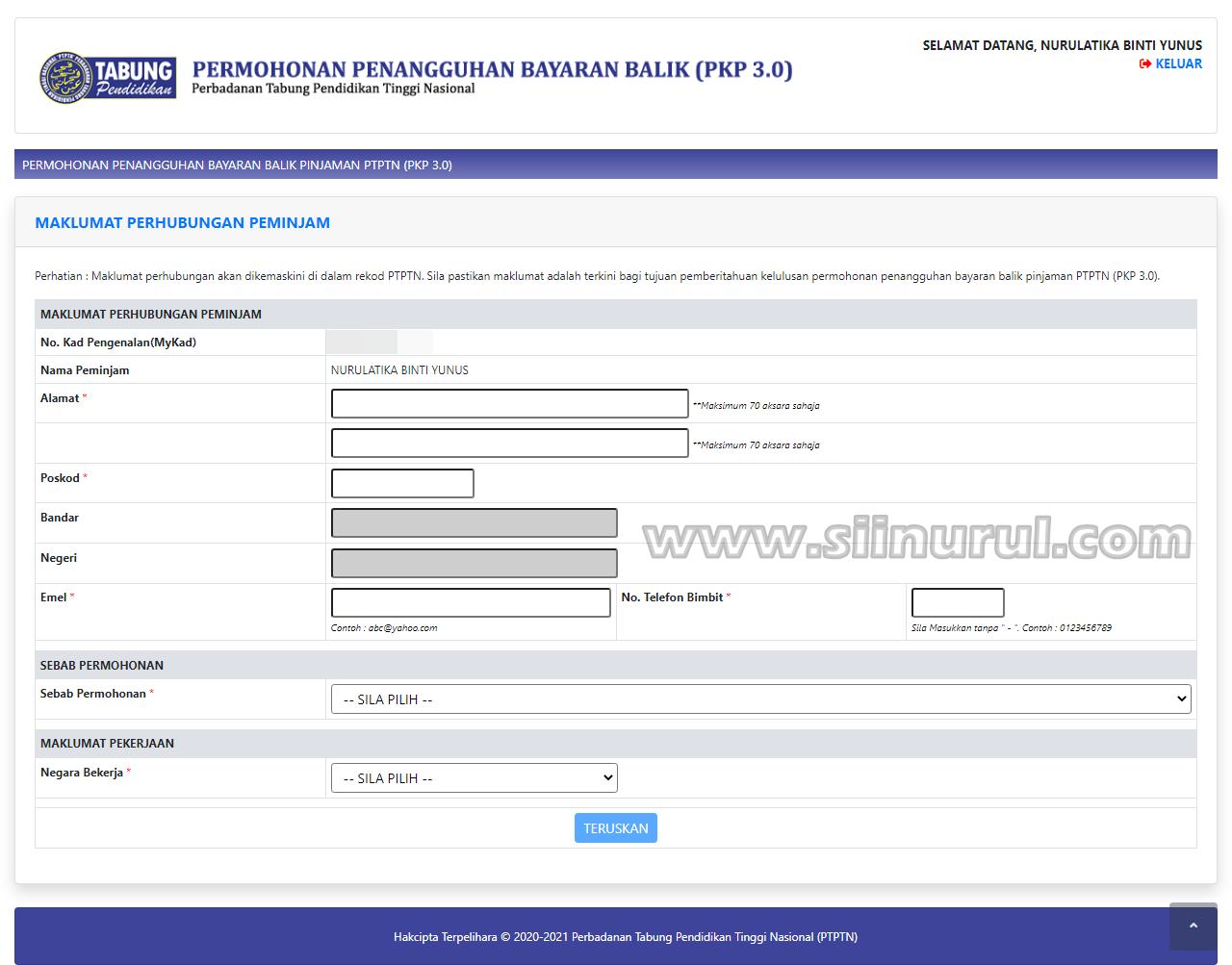 Cara Membuat Penangguhan Bayaran Balik Pinjaman PTPTN (PKP 3.0)