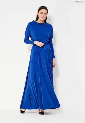 Vestidos azul rey largos