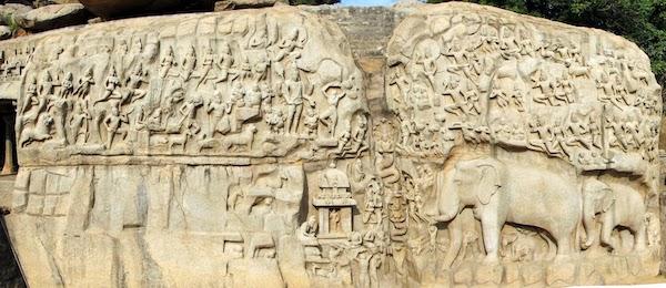 Arjuna's Penance at Mamallapuram.