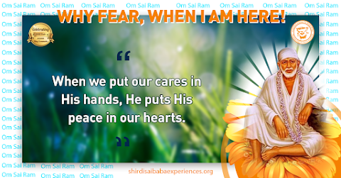 Care Of God - Sai Baba Picture With Quote