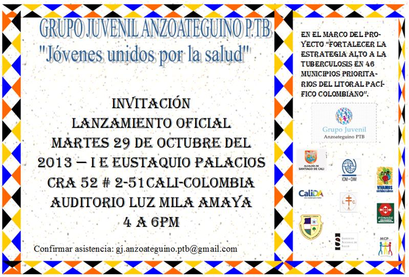 Grupo Juvenil Anzoáteguino Ptb Invitación Lanzamiento Grupo