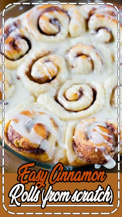 These Homemade Cinnamon Rolls are so simple! They're completely from scratch and will become your new favorite. | sallysbakingaddiction.com