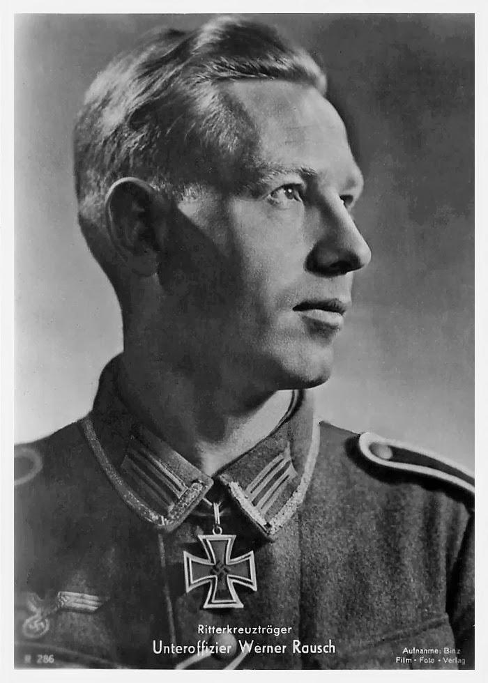 Werner Rausch Ritterkreuzträger Knight Cross Holder Postcard