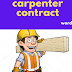 carpenter contract template word