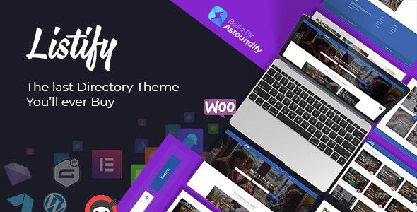 Listify tamplete–Directory WordPress Theme