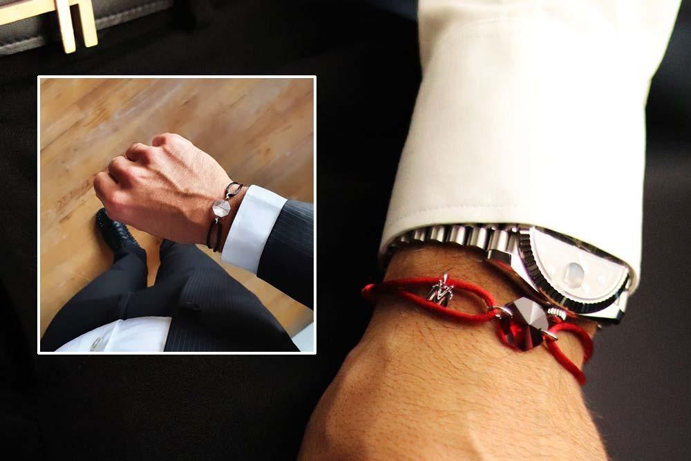 MV Bracelet Michaël Vessiere bracelet porte-bonheur pierre rouge