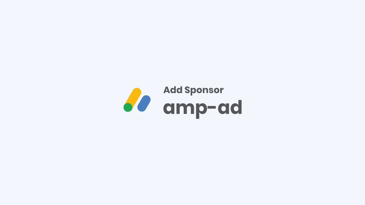 How to write ad code in AMP