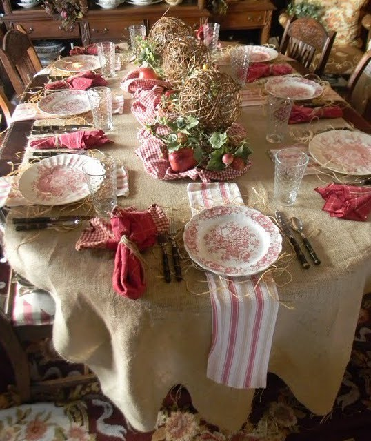 Twc decorating with burlap - French country table centerpieces ...