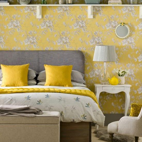 Bedroom Decorating Ideas Yellow And Gray Universal Design Bedroom Bedroom False Ceiling Ideas Bedroom Cabinet Design Ideas Pictures: 15 Quartos De Casal Com Tecido Na Parede