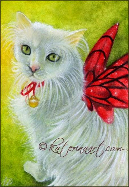 Crimson Wings by Enchanted Visions artist, Katerina Koukiotis