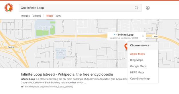 DuckDuckGo Maps