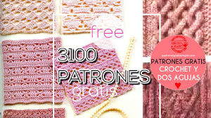 3100 Patrones Crochet y Dos Agujas