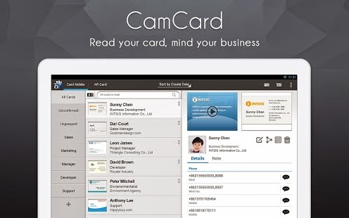 CamCard Business Card Reader Android APK