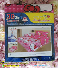 Sprei Lady Rose Hello Kitty Pink Ukuran 180