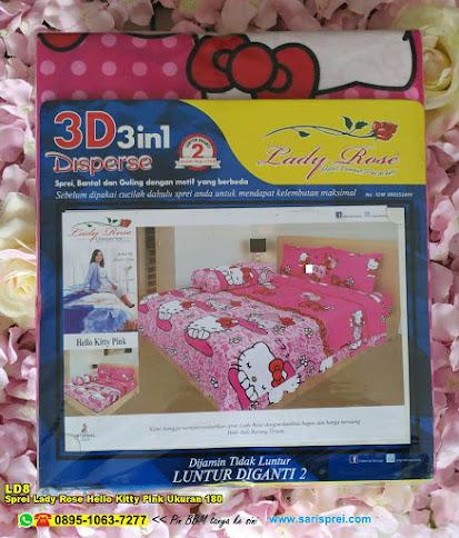 Sprei Lady Rose Hello Kitty Pink Ukuran 180