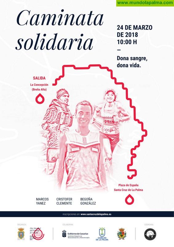 La Caminata Solidaria Dona Sangre congrega este sábado a cerca de 300 participantes con un llamamiento a aumentar las donaciones