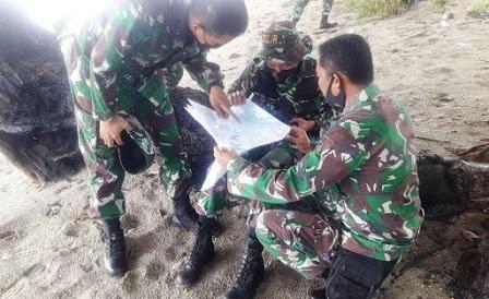 Danramil 1310-05/Kauditan Dampingi Giat Tinjau Medan Terkait Latgab bersama US Army