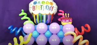 Gemischte Ballonarten zur Geburtstagsdekoration.