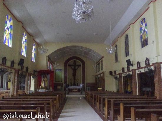 Inside Holy Cross Church in Noveleta, Cavite
