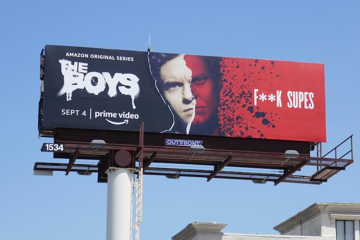Hughie Boys season 2 F**k Supes billboard