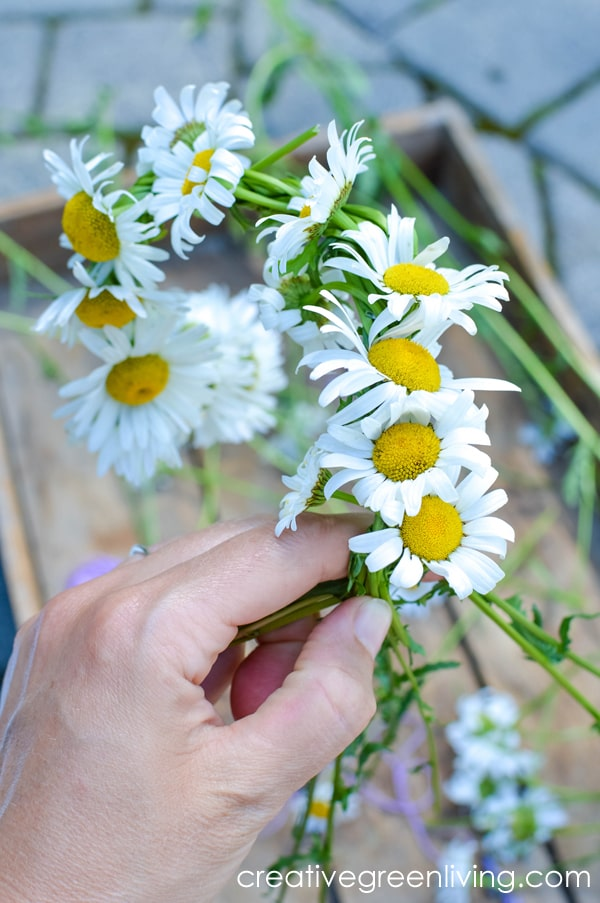 How to braid flowers together