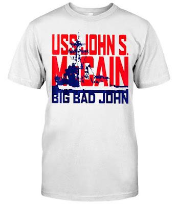 USS John S McCain Support our Vets T Shirts Hoodie Sweatshirt
