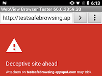 Protecting WebView with Safe Browsing