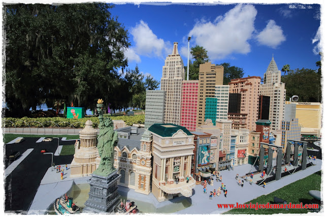 Recreación de New York con legos