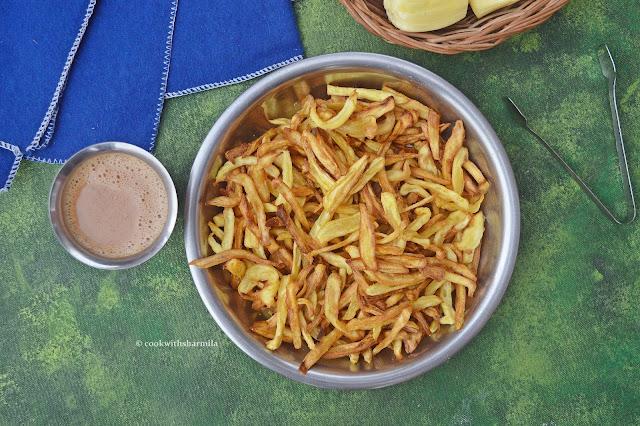 Raw Jackfruit Chips Recipe | Chakka Vathal Recipe | Chakka Chips | Chakka Varuthathu