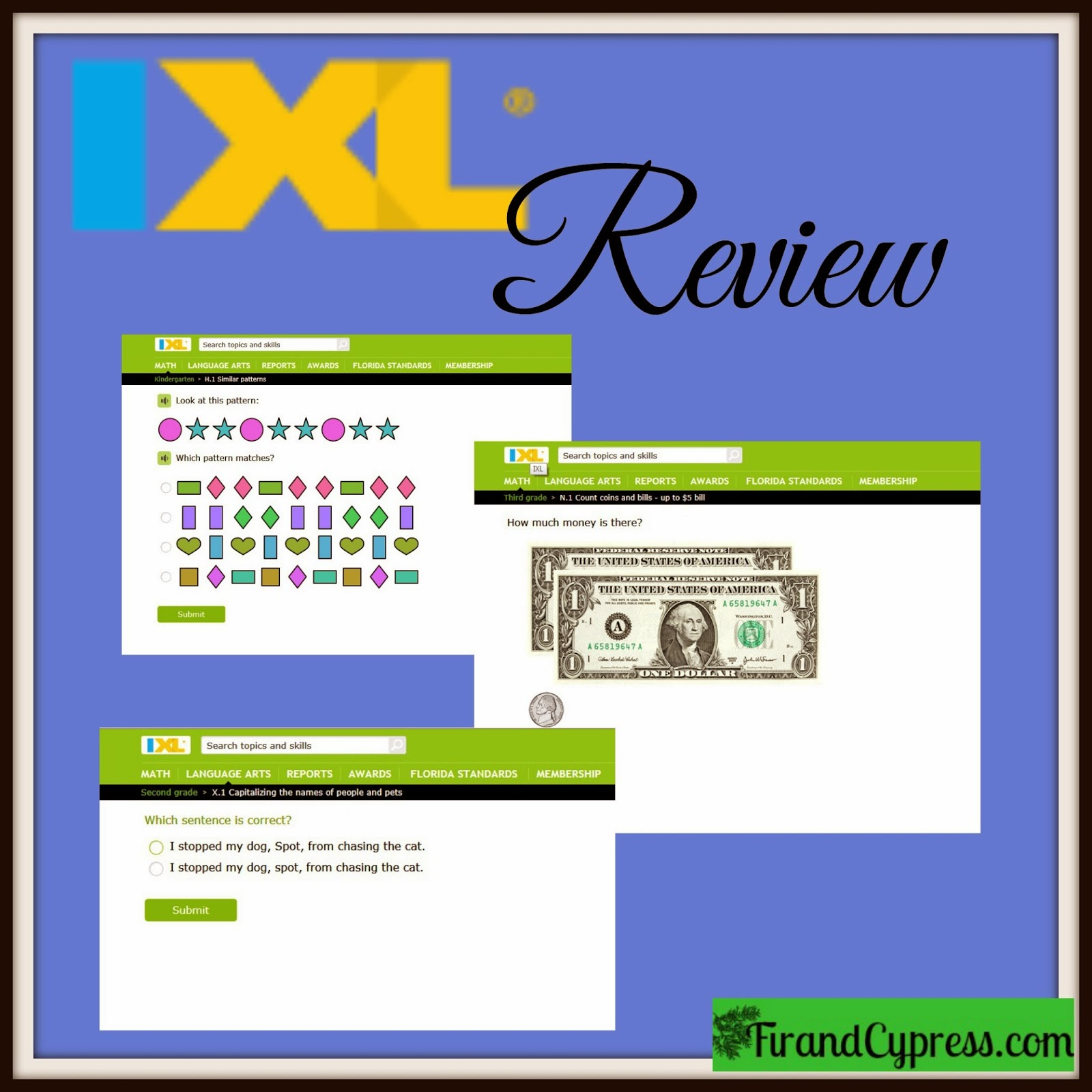 Fir and Cypress: IXL Math and Language Arts Online Review