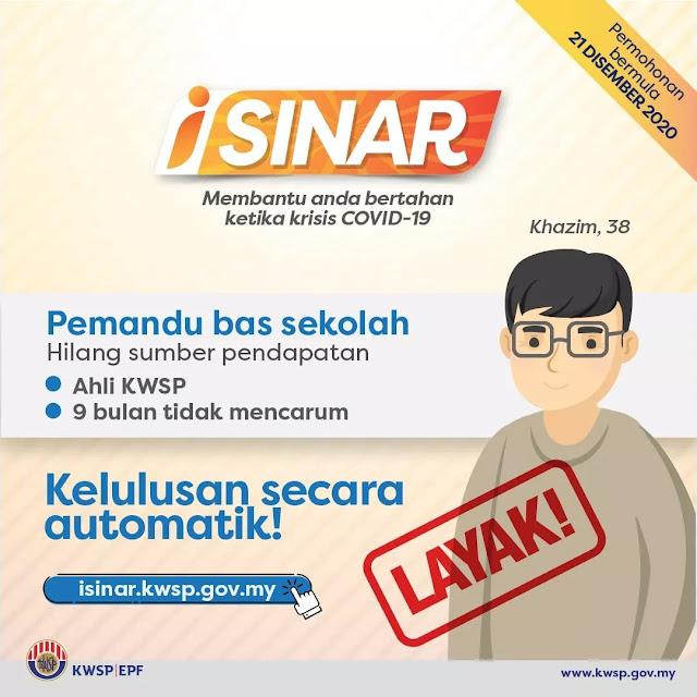 KWSP Umumkan 2 Kriteria Bagi Permohonan Pengeluaran i-Sinar Sehingga RM10,000
