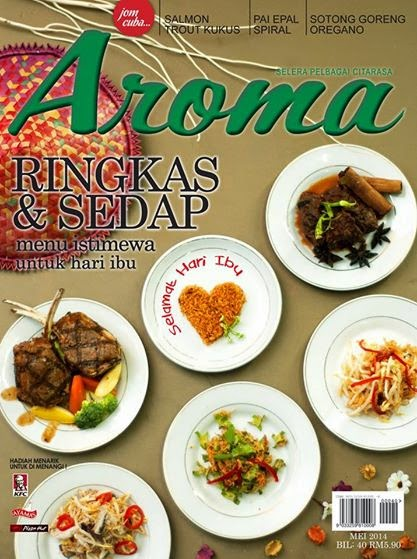 RESEPI AMIE'S LITTLE KITCHEN  DI MAJALAH AROMA MEI 2014