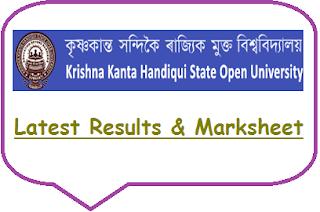 KKHSOU Result 2018