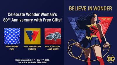 Wonder Woman Gifts at DC Universe Online