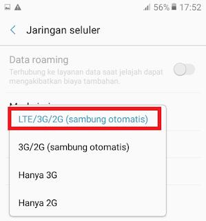 LTE/3G/2G Otomatis