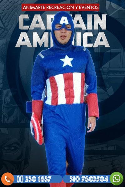 Capitán América en tu Fiesta Infantil