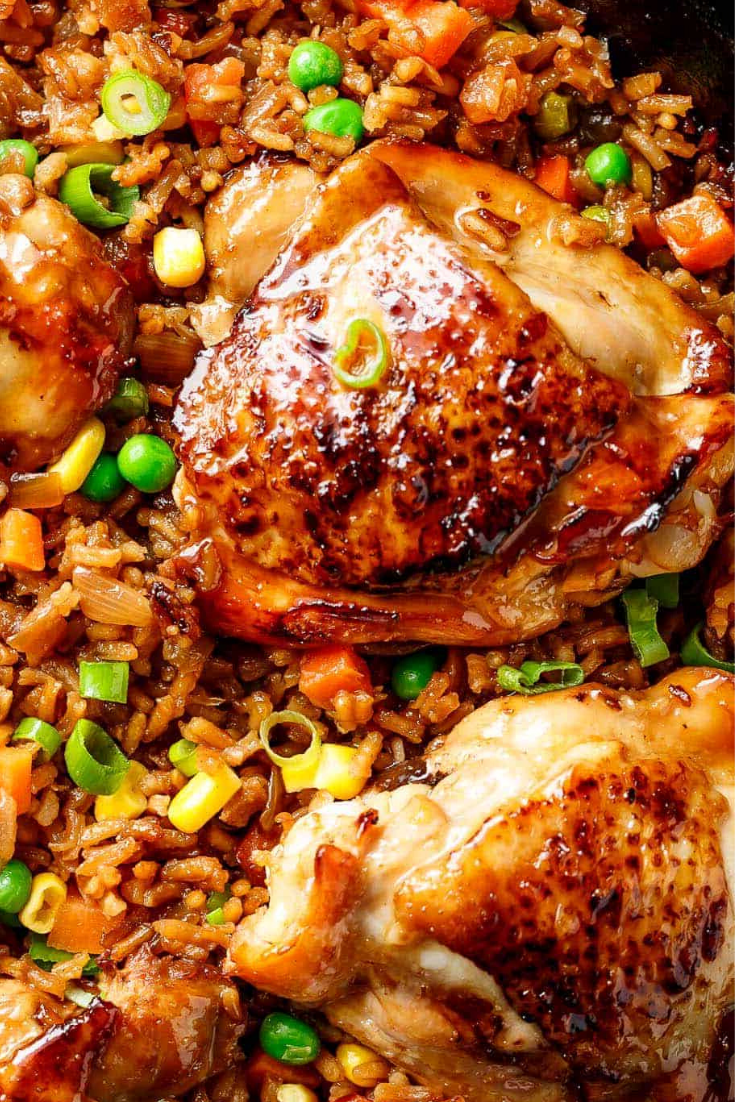 One Pan Asian Chicken and Rice