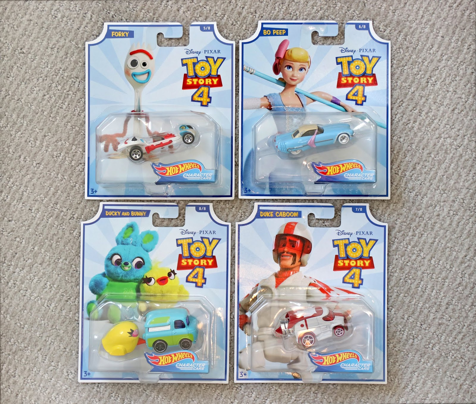 toy story 4 hotwheels character cars