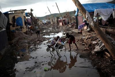 Fuertes lluvias azotan la población de Haití.