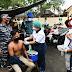 Tim Vaksinasi Door to Door TNI AL Lantamal I Sasar Pekerja Warung Makan, Tukang Ojek dan Bengkel Sekitar Belawan