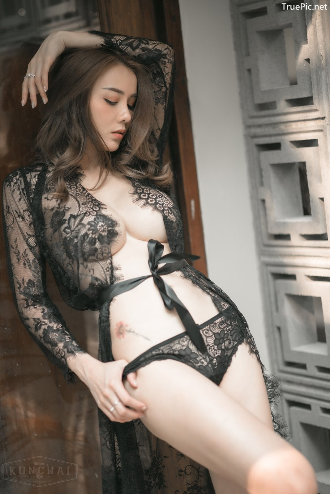 Image Thailand Sexy Model - Soraya Upaiprom - Black Lace Lingerie - TruePic.net - Picture-1
