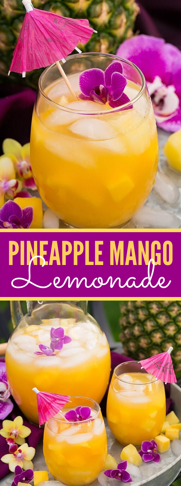Pineapple Mango Lemonade #drinks #freshdrink