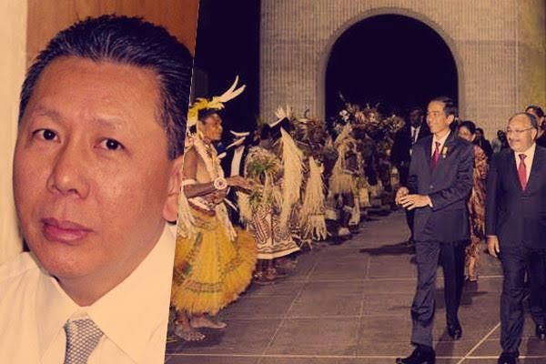 Adik Buronan Djoko Tjandra Temui Jokowi di Papua Niugini